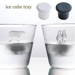 Homemade mold online shopping - 2pcs Set Polar Bear Penguin Silicone Jelly Choc Ice Cube Mold Maker Mould Party Novelty Homemade Decor Party Decoration