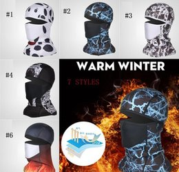printed dust masks Canada - Bicycle Cycling Masks Motorcycle Barakra Hat Cycling Caps Outdoor Sport Ski Mask CS windproof dust head sets printing Tactical Mask 200Pcs