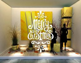 $enCountryForm.capitalKeyWord Canada - DIY Creative Festival Merry Christmas Wall Stickers Shop Office Window Decals Xmas Wall Vinyl Decal Art Living Room Bedroom Home Decoration