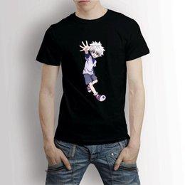 Custom Print T Shirt Cheap Australia - Tops wholesale Tee custom Environmental printed Tshirt cheap Hunter Anime Killua Zoldyck Men's T-Shirt Tee summer o neck tee