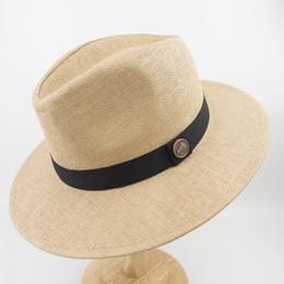 Dupla camada de papel palha mens e womens branco Wide Brim melhor alta  qualidade Fedora Panamá chapéu EPU-MH1820 c447f9f6a53