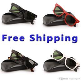 Sun Glasses Black Australia - Free Shipping 2140 sunglasses Green Lens glasses 2140 High Quality Plank black Sunglasses glass Lens black Sun glasses 2140 glasse With boxs
