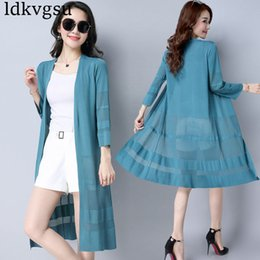5335159e249 2018 Cardigan Women Sun Protection Clothing Lady Summer Long Air  Conditioning Shirts Tops Casual Poncho Sunscreen Clothing A707