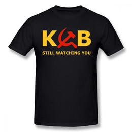 $enCountryForm.capitalKeyWord Australia - For Man Kgb Still Watching Cccp T Shirt Casual New Arrival Plus Szie Round Neck Tee Shirt Thinkno Short - Sleeved
