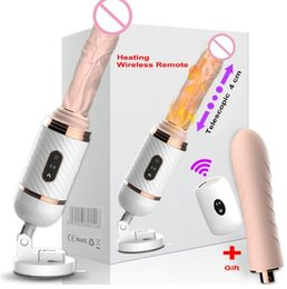 DIBEI Remote Control Automatic Sex Machine for Women Pumping Gun Thrusting Dildo Vibrator Female Masturbation Adult Sex Toys Medical silicon on Sale