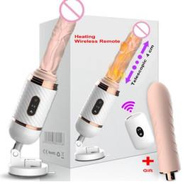 DIBEI Télécommande Automatique Sex Machine pour Femmes Pompage Poussée Poussée Gode Vibrateur Masturbation Féminine Adulte Sex Toys Silicone Médicale