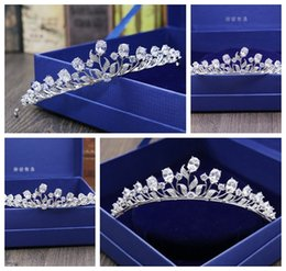white roses flower crown 2019 - New high-end micro inlay full zircon bridal flowers crown   fine wedding dress accessories   more style into the shop to