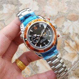 $enCountryForm.capitalKeyWord Australia - New Luxury Mens Watch Automatic Movement Chronograph Stainless Steel Men Male Planet Wrist Watch Free Shipping