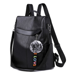 ba1777f99722c Soft Shoulder Bag Female Multi-function Anti-theft Big Backpack Korean  Version Retro Bag And Dual-purpose Women Traval