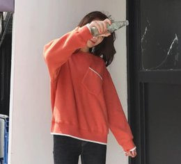 Korean Sweater Style Women Clothing Canada - 2017 new style sweater, no hat, women's clothing, Korean version, Chao girl, thickening, autumn, winter, BF, u, and velvet.