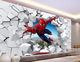 $enCountryForm.capitalKeyWord NZ - wallpaper for bathrooms 3D brick wall Spiderman decorative painting wall background Floor wallpaper for kids room