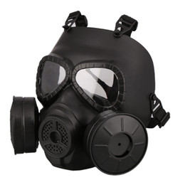 Wholesale M40 Double Fan Gas Mask CS Filter Paintball Helmet Tactical Army Capacetes De Motociclista Guard FMA Cosplay