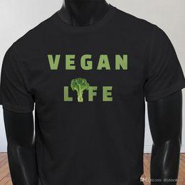 Vegan Life Broccoli Salvar vidas Plantas Kale Funny Mens Negro Camiseta Camisetas Camisetas Hombres Fabuloso Manga corta Día de Acción de Gracias Tamaño personalizado GR en venta