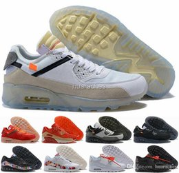 a4f723dae692 2018 90 Mens Womens Running Shoes Air Virgil Designer World cup Triple White  Black Red Sneakers 90s Trainers Sports Chaussures zapatos