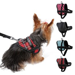 led dog collar chest 2018 - Adjustable Soft Breathable Dog Harness Reflective Pet Vest Rope Small Dog Chest Strap Leash Set Collar Leads Harness S M