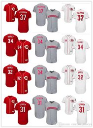 348a85b8d ... discount code for custom mens women youth majestic reds jersey 31 drew  storen 32 jay bruce