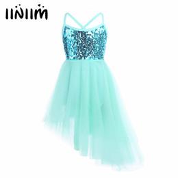 643cdf58e780 iiniim Children Kids Dancing Sequins Ballet Dress Girl Tulle Tutu Ballet  Dancewear Dress Leotard Ballerina Fairy Party Costumes