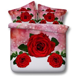 $enCountryForm.capitalKeyWord NZ - 3D galaxy red rose Duvet Cover bedding sets queen floral Bedspreads Holiday Quilt Covers Bed Linen Pillow Covers cal king size home textiles