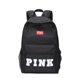 Men sequin online shopping - New Pink Sequins Backpack Pink Letter Backpacks canvas Travel Bags Teenager School Bags