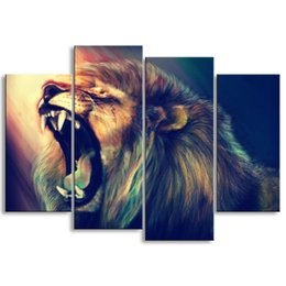 $enCountryForm.capitalKeyWord Australia - painting & calligraphy print lion canvas poster wall art living room restaurant Bedroom Decorative paintings SZ4-008