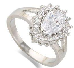 $enCountryForm.capitalKeyWord Australia - New arrival women fashion jewelry customized drop zircon bride engagement wedding ring girl festival gift Christmas birthday