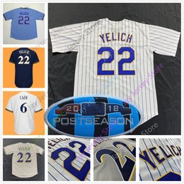 Christian Yelich Jersey 2018 Postseason Lorenzo Cain Josh Hader Orlando  Arcia Jonathan Villar Eric Thames Jerseys Milwaukee Men Women Youth 128631cd9
