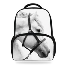 4754ab2e23 14inch Women Zebra Bag For Girls School Bag Teenagers Cool Horse Backpack  For Children Animal School Backpack Kids