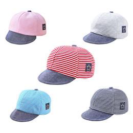 53c45447606 2018 New Fashion Baby Boys Girls Hats Stripe Soft Baseball Cap Baby Summer  Hats Newborn Boy Caps Accessories