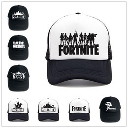 Wholesale 14Style Women Men Fortnite Trucker Baseball Cap Cosplay Fort Night Mesh Caps Summer Baseball Hat Battle Royal Hip Hop Hats Sports Hat