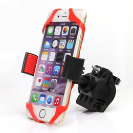 Wholesale Bike Bicycle Motorcycle Handlebar Mount Holder Phone Holder With Silicone car Support Band For Iphone GPS Universal for xiaomi