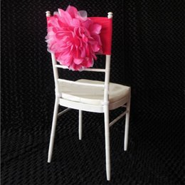 banquet flowers NZ - New Arrival Chair Decoration Flower Upscale Design Chair Sash Ruffle Cover for Wedding Banquet Decorations Supplies
