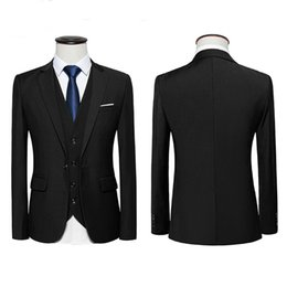 Plus Size Clothing For Weddings UK - Three Piece Men Suits for Wedding Party Groom Tuxedos Notched Lapel Latest Design Blazer Man Clothing 2018