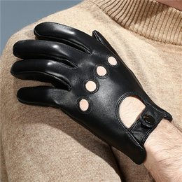 $enCountryForm.capitalKeyWord NZ - Genuine Leather Men Touch Screen Gloves Fashion Casual Breathable Sheepskin Glove Five Fingers Male Driving Leather Gloves