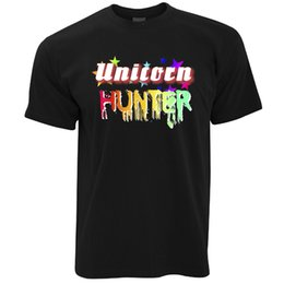 $enCountryForm.capitalKeyWord UK - Unicorn Hunter Rainbow Fantasy Magic Print Design Novelty Nerd Mens T-Shirt Cool Casual pride t shirt men