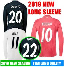 LONG SLEEVE 2019 REAL MADRID Soccer Jerseys MODRIC LUCAS MORATA BALE KROOS  ISCO BENZEMA Ronaldo Football calcio RAMOS sy 8a721614b