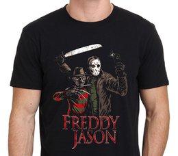 $enCountryForm.capitalKeyWord Canada - High Quality Custom Printed Tops Hipster Tees Men'S Short Freddy Krueger Vs Jason Crew Neck Zomer T Shirts