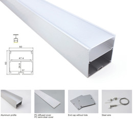 $enCountryForm.capitalKeyWord NZ - 10 X 1M sets lot Al6063 Office lighting led channel and new developed square led alu extrusion for suspension or pendant lights