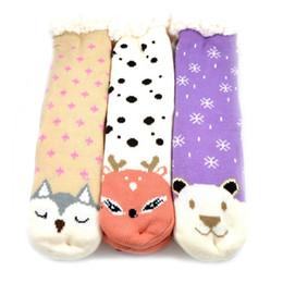 2018 New Long chaussettes de plancher Accueil pantoufles femmes Hiver Chaud Fuzzy Anti-Skid Doublé Intérieur Chaussettes de pantoufles de plancher en Solde