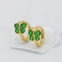 49a63b38e Butterfly Green Crystal Lovely Children Girl Earrings 18k Yellow Gold Filled  Fashion Baby Girls Earrings Gift