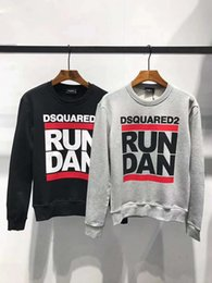 Discount spell clothes - DS217 Autumn And Winter sweatshirt new men casual clothes Brand design Sleeve Letter Spelling Loose clothing