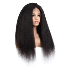 China Kinky Indian Virgin Front Lace Wigs Human Kinky Straight For African Americans Bleached Knots Baby Hair suppliers
