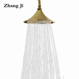 chrome speakers 2019 - New type brass rainfall shower head 9 inch big bath rain showerhead Speaker shape quality waterfall shower nozzle filter