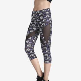 $enCountryForm.capitalKeyWord Canada - JIGERJOGER 2018 Spring Evil Blue eyes printed Side mesh patches women hot yoga cropped capris shorts leggings free drop shipping