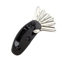 Уникальный углеродного волокна алюминиевый Легкий складной открытый ключи организатор держатель карманный держатель ключа ключи бар EDC инструмент
