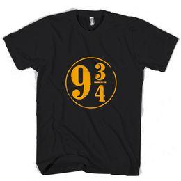 52f91539 Harry Potter Platform Number Man Woman T-Shirt 100% Cotton Casual Printing  Short Sleeve Men T Shirt O-neck men T shirt o-neck