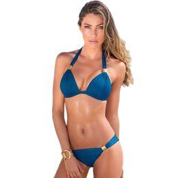 24608b060 Sexy Top Brasileira Marca Swimsuit Mulheres Bandage Bikini Set Beachwear  Maiôs Biquini Swim Wear Swimwear Feminino Biquíni
