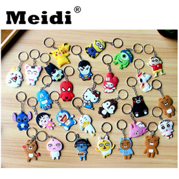 cute jewelry for sale NZ - Cartoon Key Chain Key Ring Gift For Women Girls Bag Pendant 2018 New Hot Sale PVC Cute Figure Charms Key Chains Fashion Jewelry