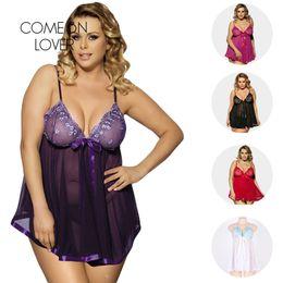 Dresses Apparel Australia - Intimate Apparel Baby Doll Sexy Lingerie Sexy Erotic Dress Mini Large Size Lenceria Erotica For Women Sling Nightwear RL70098 D18110801