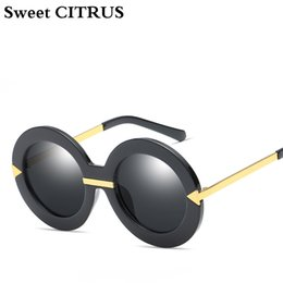 fc7a773cc905 Sweet CITRUS New Style Brand Women Round Sunglasses Famous Brand Retro  Fashion Oversize Arrow Mirror Sun Glasses Oculos UV400