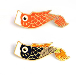 fish brooches NZ - yiustar Fashion Red Fish Brooch Animal Pins Girls Toy Cloth Christmas Brooches And Pins